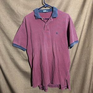 Red And Blue Striped Polo By Ralph Lauren